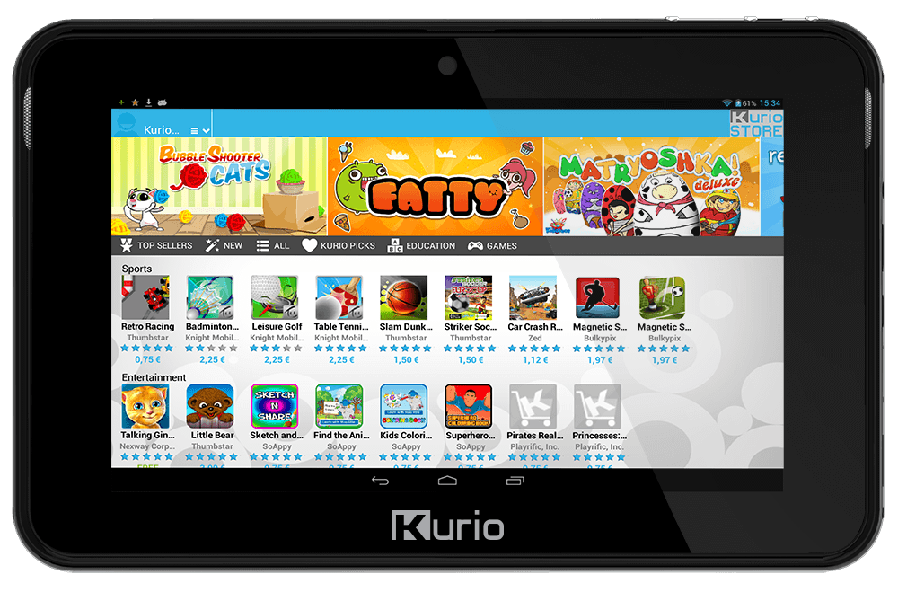 google play sur tablette kurio